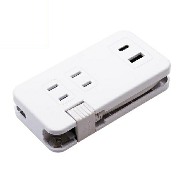 【送料無料】ミヨシ USB-ACアダプタ モバイルタップ AC3個口 USB2ポート(Typr-A・Type-C) 3.4A出力 ホワイト IPA-24AC3WH