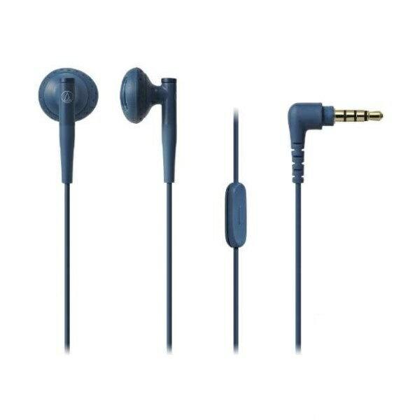 【送料無料】オーディオテクニカ スマートフォン用 インナーイヤーヘッドホン ブルー ATH-C200iSBL