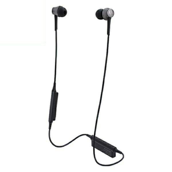 【送料無料】オーディオテクニカ Bluetooth ワイヤレスヘッドホン aptx/AAC対応 スティールブラック ATH-CKR55BTBK