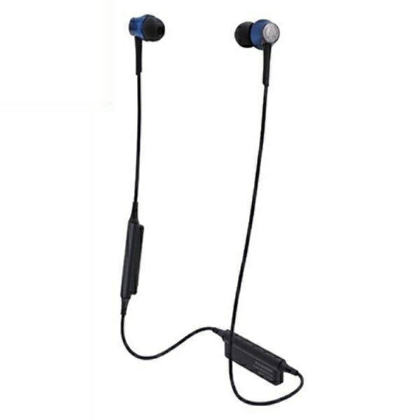 【送料無料】オーディオテクニカ Bluetooth ワイヤレスヘッドホン aptx/AAC対応 ディープブルー ATH-CKR55BTBL