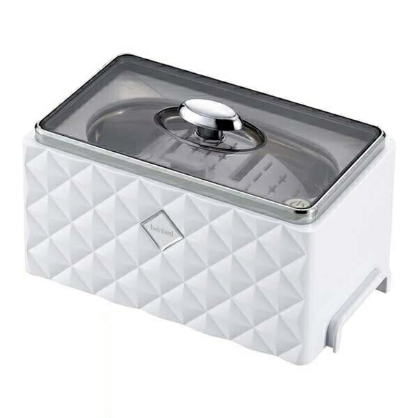 【送料無料】ツインバード 超音波洗浄器 ホワイト アクセサリーホルダー付 EC-4548W 洗浄器 アクセサリー 貴金属 メンテナンス 腕時計 眼鏡 入れ歯洗浄