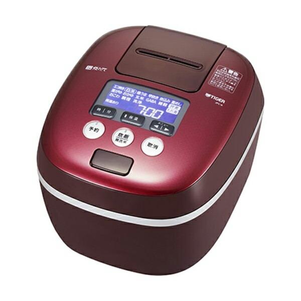 【送料無料】タイガー 圧力IH炊飯ジャー 1升炊き 炊きたて 熱流&熱封土鍋コーティング ボルドー JPC-A182-RD