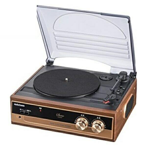 【送料無料】OHM レコードプレーヤーシステム スピーカー内蔵 ターンテーブル 07-5754 RDP-B200N AudioComm