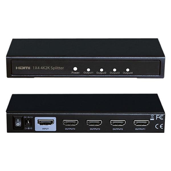 テック 4K対応HDMIスプリッター 4分配 THDSP14D-4K