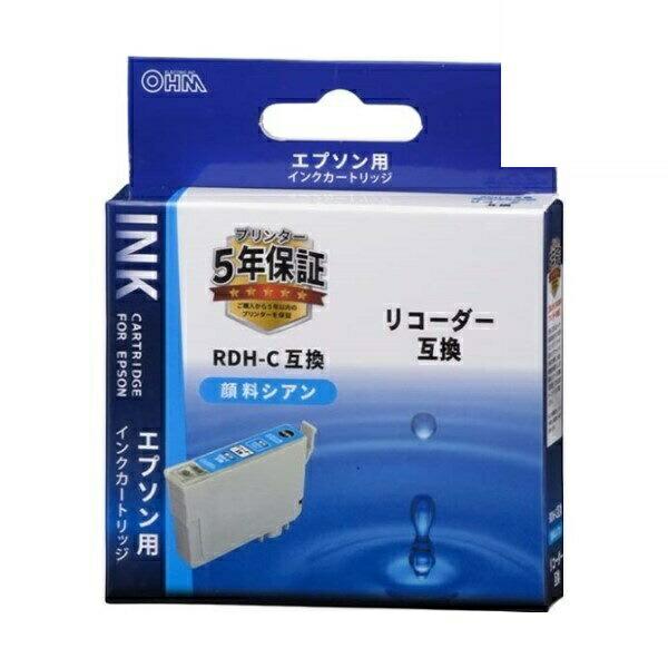 【メール便送料無料】OHM エプソン リコーダー RDH-C互換インク 顔料シアン 01-4309 INK-ERDHB-C