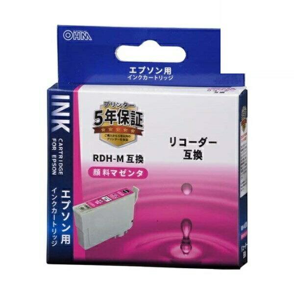 【メール便送料無料】OHM エプソン リコーダー RDH-M互換インク 顔料マゼンタ 01-4310 INK-ERDHB-M