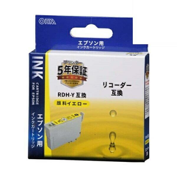 【メール便送料無料】OHM エプソン リコーダー RDH-Y互換インク 顔料イエロー 01-4311 INK-ERDHB-Y
