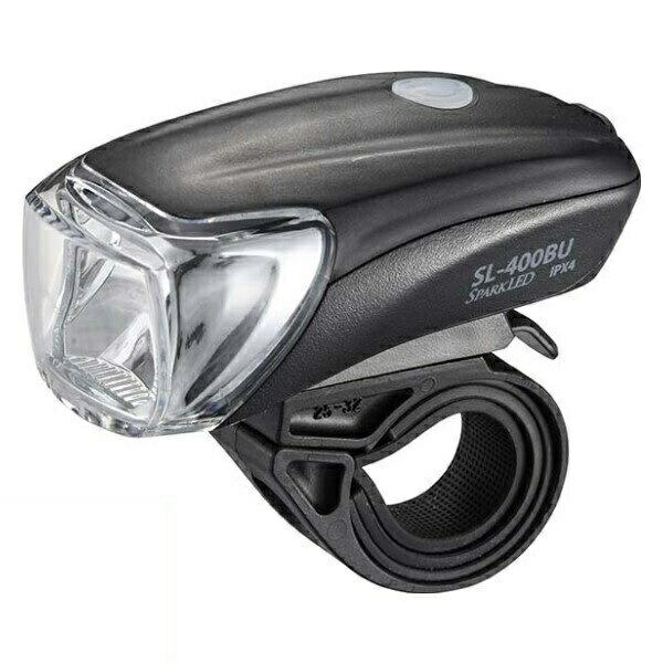 【送料無料】OHM USB充電式 LEDサイクルライト ブラック 07-6376 SL-400BU-K
