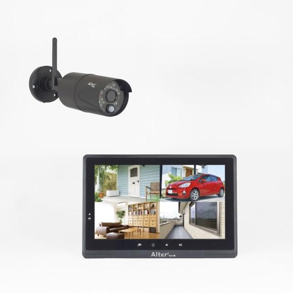 【送料無料】オルタプラス フルハイビジョンHD無線カメラ&モニターセット 17-7672 AFH-101