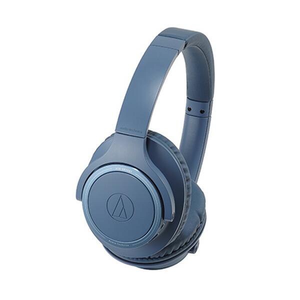 【送料無料】オーディオテクニカ Bluetooth ワイヤレスヘッドホン ブルー SoundReality ATH-SR30BTBL