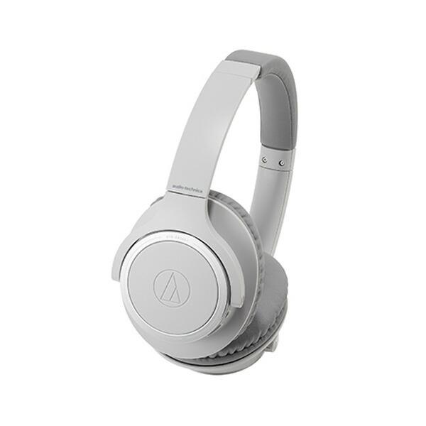 【送料無料】オーディオテクニカ Bluetooth ワイヤレスヘッドホン グレー SoundReality ATH-SR30BTGY