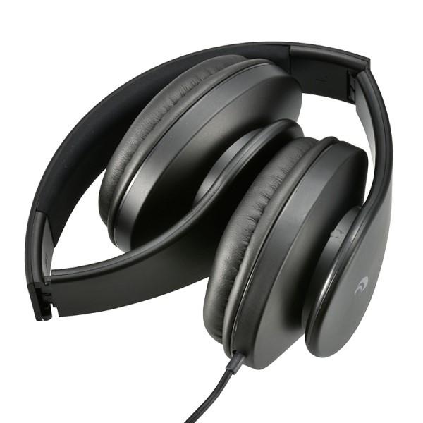 【送料無料】OHM スマートフォン用 ヘッドホン ブラック マイクコントローラー付 03-2806 HP-H250N-K AudioComm