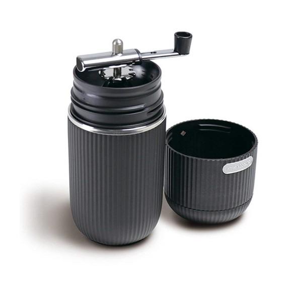 【送料無料】ポータブルコーヒーメーカー ミル付きコーヒーメーカー ブラック OUTDOOR MAN ライソン KK-00417BK コンパクト 携帯 コーヒーミル 手動 タンブラー アウトドア キャンプ BBQ