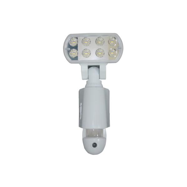 【送料無料】マザーツール LEDセンサーライト カメラ ホワイト microSDカード付属 18-0088 MT-SL03W