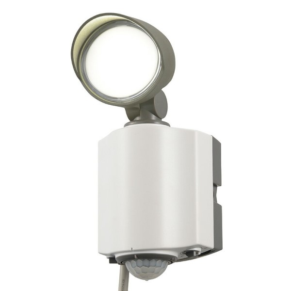 【送料無料】OHM LEDセンサーライト LED1灯 600lm 防水IP55 コンセント式 07-8891 RL165Y1 屋外用 防犯センサー 防犯ライト