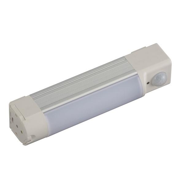 【送料無料】OHM センサー式 充電LED多目的ライト 明暗・人感センサー付 220lm 昼光色 ホワイト 06-3519 SL-RSP030AD-W 常備灯 ランタン 懐中電灯 LED