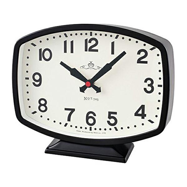 【送料無料】ノア精密 MAGDECOR インテリア置時計 モニーツ ブラック T-705-BK-Z