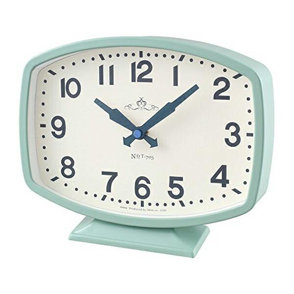 【送料無料】ノア精密 MAGDECOR インテリア置時計 モニーツ ライトグリーン T-705-LGR-Z