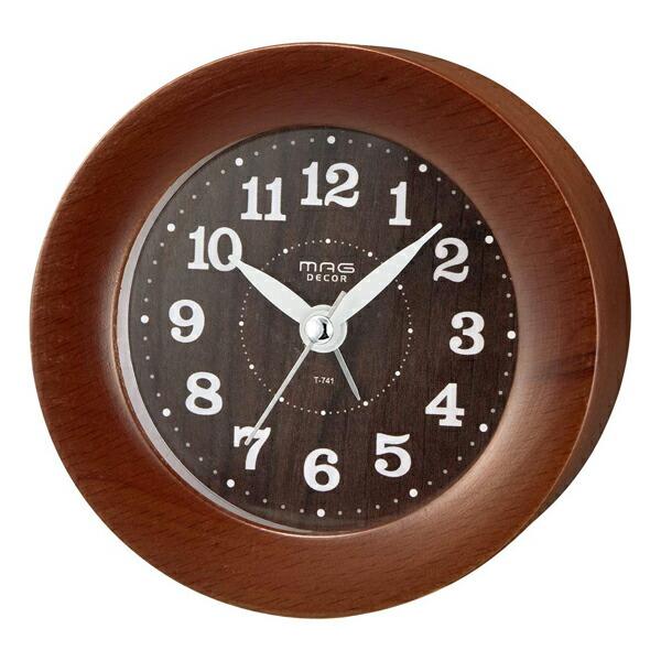 【送料無料】ノア精密 MAGDECOR インテリア置時計 ウッドアラームクロック ブラウン T-741-BR-Z