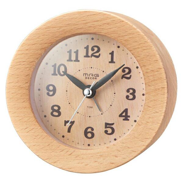 【送料無料】ノア精密 MAGDECOR インテリア置時計 ウッドアラームクロック ナチュラル T-741-N-Z