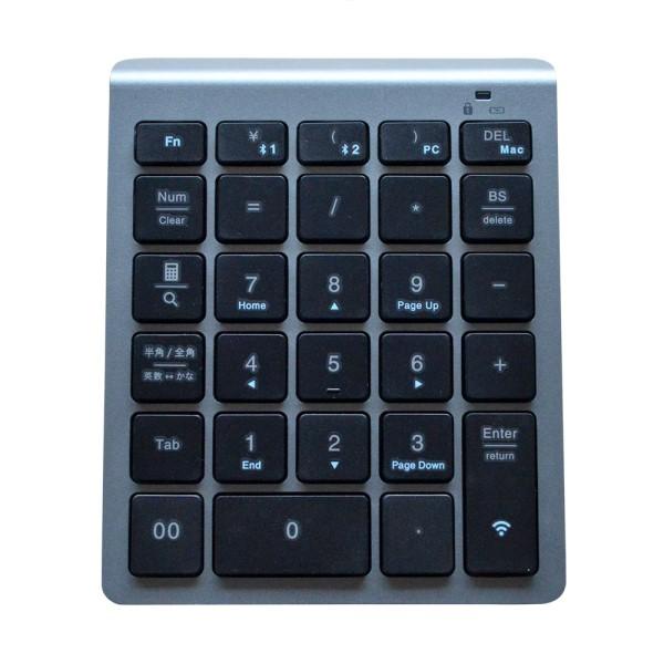 【送料無料】ミヨシ Bluetoothワイヤレステンキー メタリックシルバー TENBT01MG ノートPC モバイルPC対応