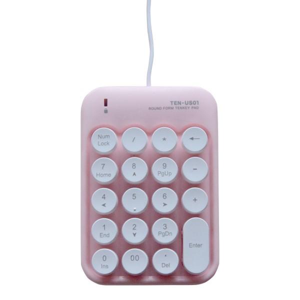 【送料無料】ミヨシ USBテンキー レトロデザイン ピンク TENUS01PK ノートPC モバイルPC対応