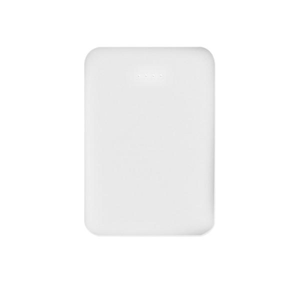 【メール便送料無料】テック 薄型・軽量モバイルバッテリー 5000mAh ホワイト USB2ポート 2.1A出力 急速充電対応 TMB-5KWH iPhone XS・XS Max・XR・8対応