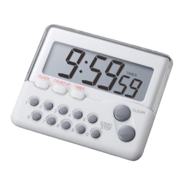 【送料無料】カスタム テンキータイマー 時計機能・マグネット付 ホワイト 899