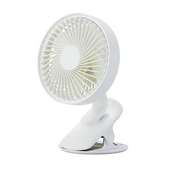 【年中無休】【送料無料】アピックス USBポータブルクリップファン 充電式 ホワイト ACF-410-WH USB扇風機 卓上扇風機 ポータブル扇風機