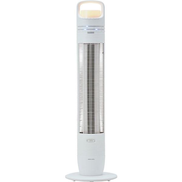 【年中無休】【送料無料】アピックス LEDタワーファン タワー型扇風機 ホワイト リモコン付 AFT-848R-WH リビングファン スリムファン 扇風機