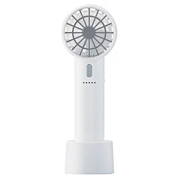 【年中無休】【送料無料】アピックス USBスリムハンディファン 充電式 ホワイト 卓上スタンド付 AHF-610-WH USB扇風機 卓上扇風機 ポータブル扇風機