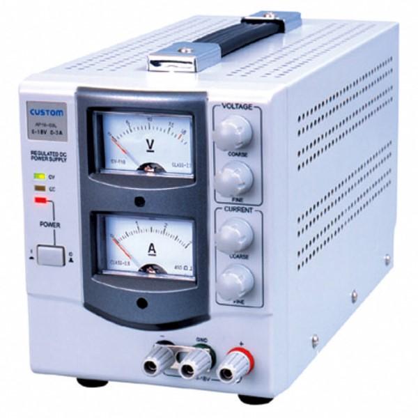 【送料無料】カスタム アナログ式 直流安定化電源 出力電圧 0~18V/出力電流 0~3A AP-1803