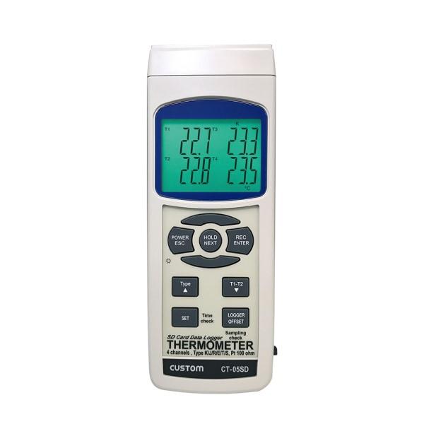 【送料無料】カスタム データロガー 4チャンネル温度計 CT-05SD