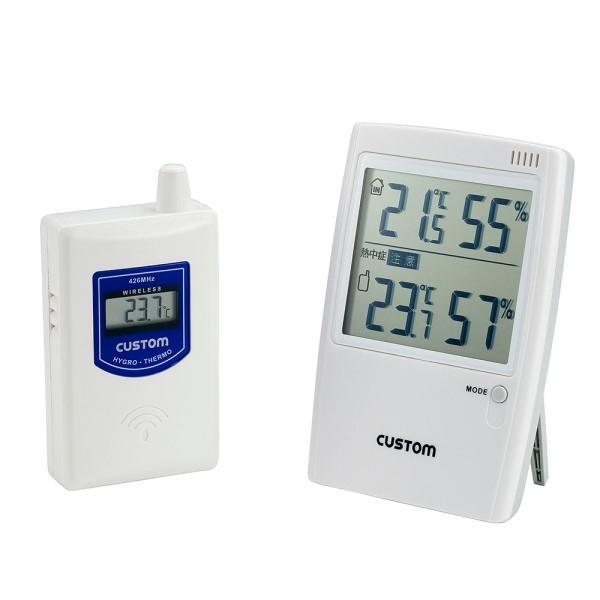 【送料無料】カスタム 無線温湿時モニター 熱中症警告インジケータ付 HI-01RF