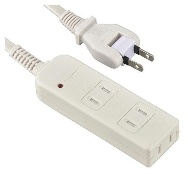 【送料無料】OHM 安全電源タップ 雷ガード・シャッター付 3個口 3m ホワイト 00-6963 HS-TKS33PBT-W OAタップ コンセントタップ テーブルタップ 電源コード