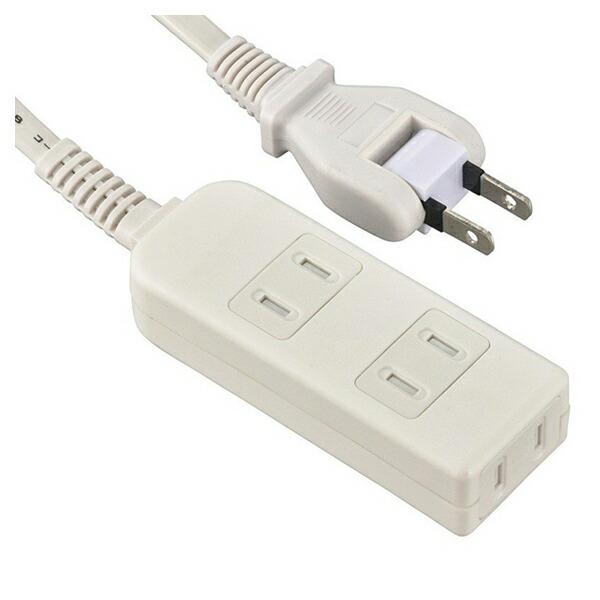 【送料無料】OHM 安全電源タップ シャッター付 3個口 3m ホワイト 00-6953 HS-TS33PBT-W OAタップ コンセントタップ テーブルタップ 電源コード