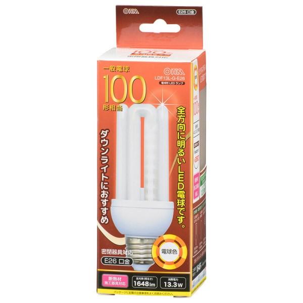 【送料無料】LED電球 100形相当 1648lm 電球色 E26 全方向280° 密閉形器具・断熱材施工器具対応 OHM 06-1686 LDF13L-G-E26