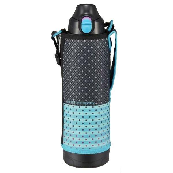 【送料無料】タイガー ステンレスボトル サハラ 2WAY 1.0L ブラックドット 保冷・保温 直飲み&コップ MBO-H100-KT 遠足 スポーツ 旅行 登山 水筒