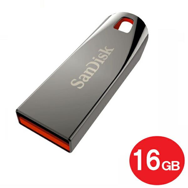 【メール便送料無料】サンディスク USB2.0フラッシュメモリ 16GB Ultra Force SDCZ71-016G-B35 USB2.0 USBメモリ SanDisk