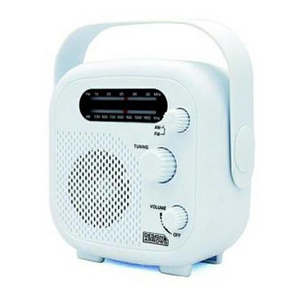【送料無料】ヤザワ シャワーラジオ ホワイト FM/AM 防水ラジオ IPX5 SHR02WH