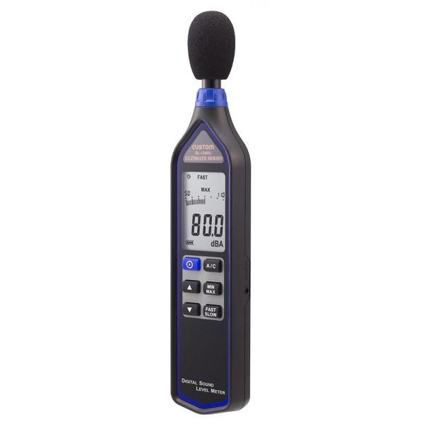【送料無料】カスタム デジタル騒音計 ブラック 32~130dB ケース付 SL-1340U