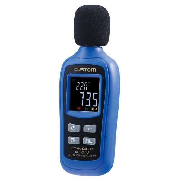 【送料無料】カスタム デジタル騒音計 温度計機能付 35~135dB SL-200U