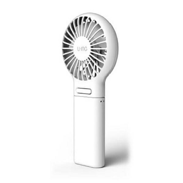 【送料無料】ユーイング 充電式 ハンディファン ホワイト 携帯扇風機 UF-CH06A-W