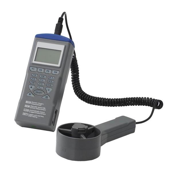【送料無料】カスタム データロガー デジタル風速・風量計 ベーン型セパレート式 WS-02
