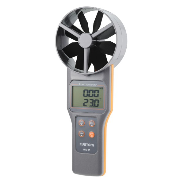 【送料無料】カスタム デジタル風速・風量計 大型ベーン式 WS-05