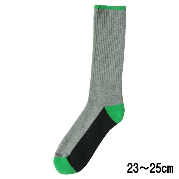 【メール便送料無料】インセクトシールド 虫よけぴったりソックス M(23~25cm) 男女兼用 グレー×グリーン 553936 防虫ソックス メンズ レディス 靴下