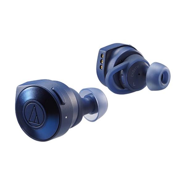 【送料無料】オーディオテクニカ フルワイヤレスヘッドホン SOLID BASS ブルー ATH-CKS5TWBL オーテク 完全ワイヤレス トゥルーワイヤレス イヤホン