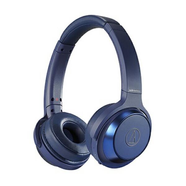 【送料無料】オーディオテクニカ Bluetooth ワイヤレスヘッドホン SOLID BASS ブルー ATH-WS330BTBL オーテク ヘッドホン イヤホン