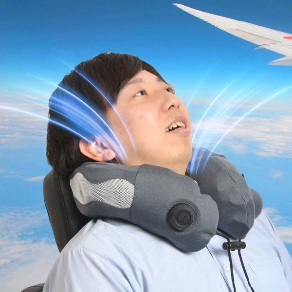 【送料無料】サンコー ファンで爽快ネックピロー USBファン ピロー型扇風機 CINPWCFN ネックファン 熱中症対策 USB扇風機