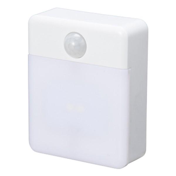 【メール便送料無料】ヤザワ らくらく電池交換ナイトライト ホワイト NASMN46WH 防犯機器 センサーライト